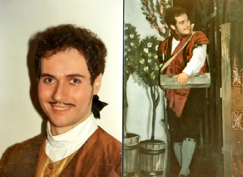 """30 year Retrospective"" 1984 Figaro in Barbiere di Siviglia"