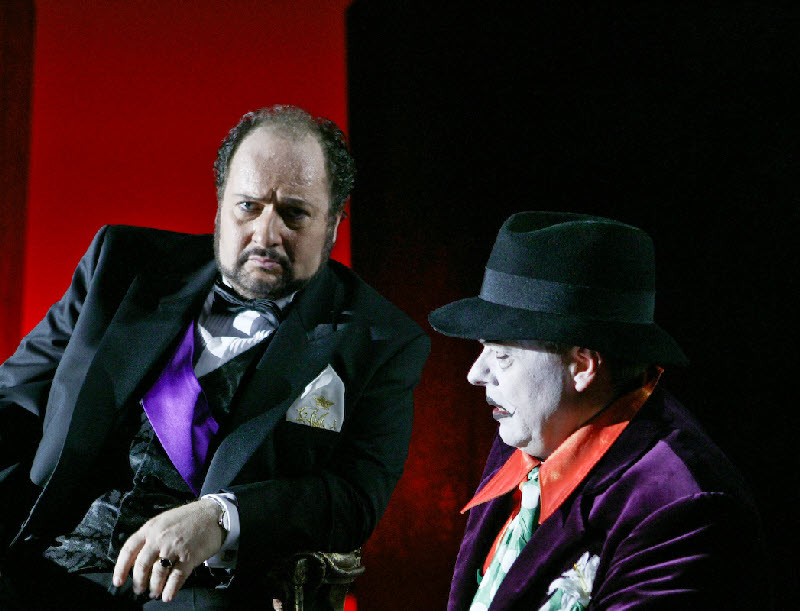 Duca in Rigoletto Act 1 with Jørn Pedersen (Rigoletto)